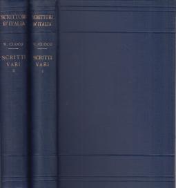 Scritti Vari Parte prima: Periodo Milanese 1801-1806, Parte seconda: Periodo Napoletano 1806-1815 e Carteggio