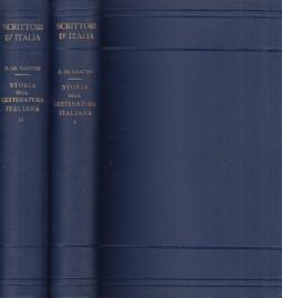 Storia della letteratura Italiana Nuova edizione a cura di Benedetto Croce Volume Primo, Volume Secondo
