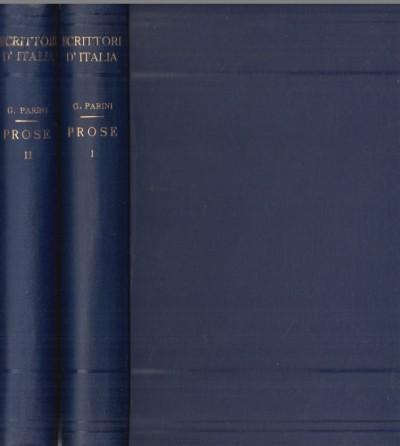 Prose. volume primo, volume secondo. - Parini Giuseppe