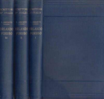 Orlando furioso. volume primo, volume secondo, volume terzo - Ariosto Ludovico