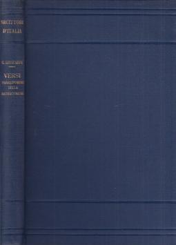 Versi paralipomeni della batracomiomachia a cura di Alessandro Donati