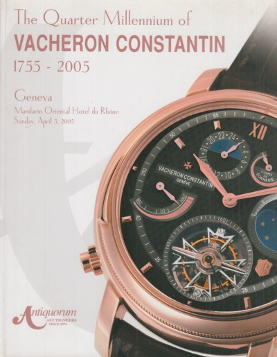 The quarter millennium of vacheron constantin 1755-2005, geneva, mandarin oriental hotel du rhone, sunday, april 3, 2005