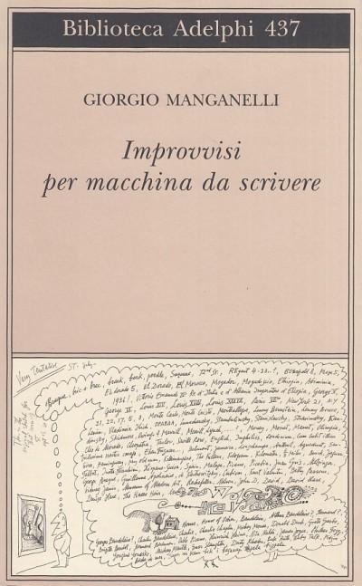 Improvvisi per macchina da scrivere - Manganelli Giorgio