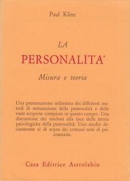 La personalit?. Misura e teoria