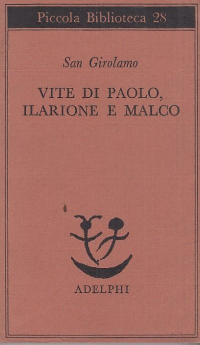 Vite di paolo, ilarione e malco - San Girolamo