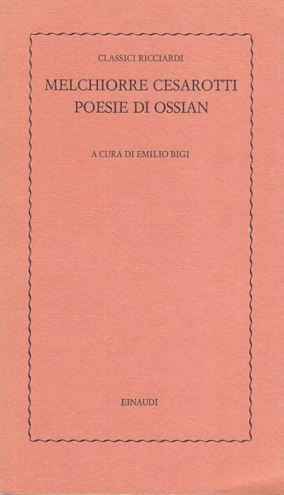 Poesie di ossian - Cesarotti Melchiorre