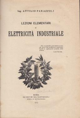 Lezioni elementari di elettricit? industriale