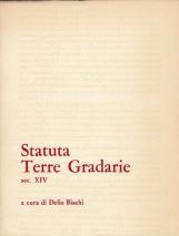 Statuta Terre Gradarie. Sec XIV