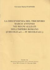 La discendenza del triumviro MArco Antonio nei regni alleati dell'impero romano (I secolo a.c. - IV secolo d.c.)