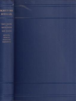 Poeti minori del settecento. Savioli, Pompei, Paradisi, Cerretti ed altri