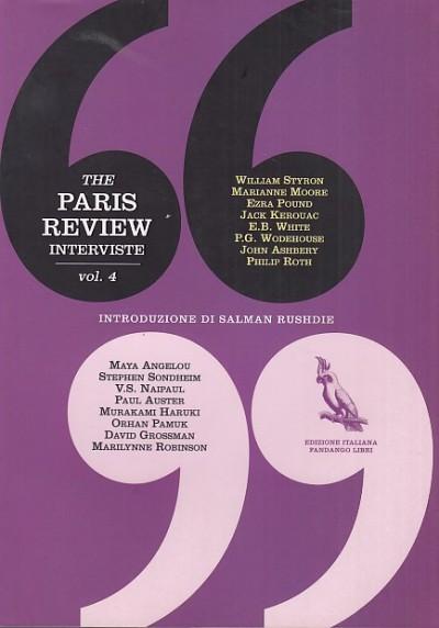 The paris review. interviste. 4 - Gourevitch Philip