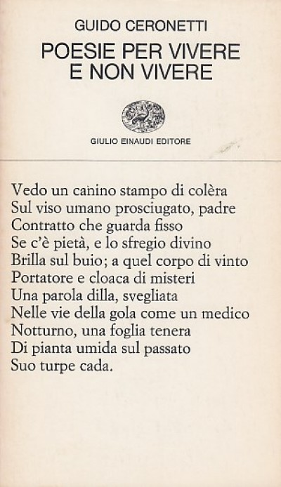 Poesie per vivere e non vivere - Ceronetti Guido