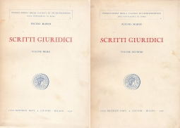 Scritti Giuridici Volume Primo Volume Secondo
