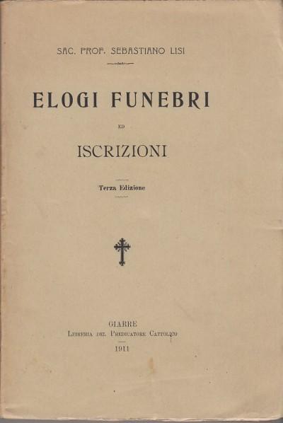 Elogi funebri ed iscrizioni - Lisi Sebastiano