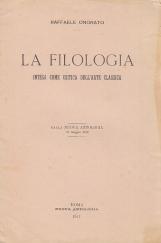 La filologia. Intesa come critica dell'arte classica