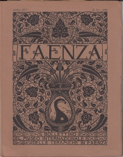 Faenza Bollettino del museo internazionale delle ceramiche di Faenza, Anno 1959, FAscicolo III-IV