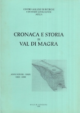 Cronaca e storia di Val di Magra. Anno XXVIII - XXIX 1999-2000