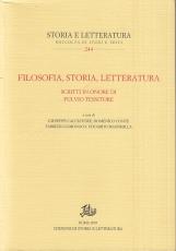 Filosofia, storia, letteratura. Scritti in onore di Fulvio Tessitore