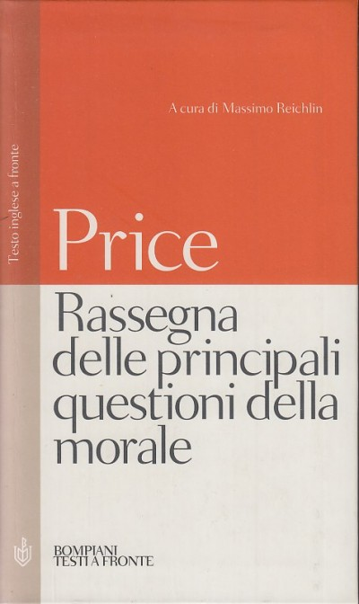 Rassegna delle principali questioni della morale. testo inglese a fonte - Price