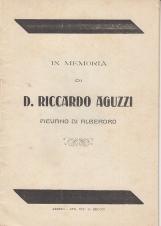 In memoria di D. Riccardo Aguzzi Pievano di Alberoro