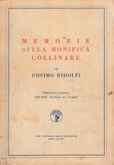 Memorie sulla bonifica collinare di Cosimo Ridolfi