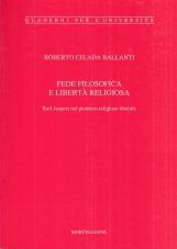 Fede filosofica e libertà religiosa. Karl Jaspers nel pensiero religioso liberale
