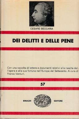 Dei delitti e delle pene Nuova Universale Einaudi 57