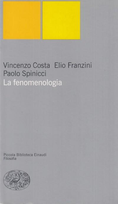 La fenomenologia - Costa Vincenzo - Franzini Elio - Spinacci Paolo