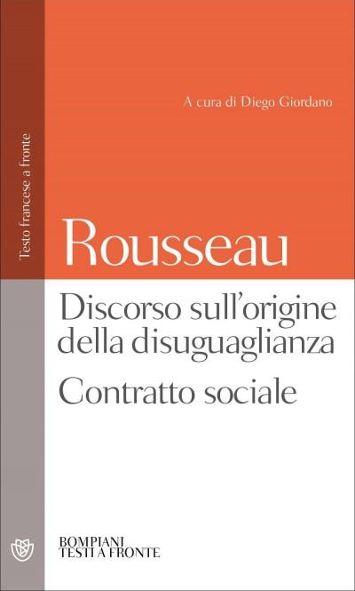 Discorso sull'origine della disuguaglianza. contratto sociale. testo francese a fronte - Rousseau
