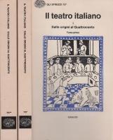 Il teatro italiano 1 Dalle origini al Quattrocento Tomo Primo, Tomo Secondo