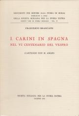 Isidoro Carini in Spagna Nel VI centenario del vespro (Carteggio con M. Amari)