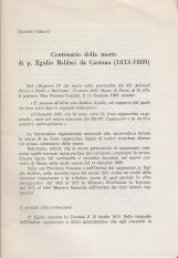 Centenario della morte di p. Egidio Baldesi da Cortona (1813-1889)