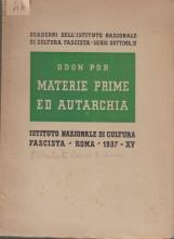 Materie prime ed autarchia