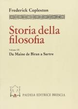 Storia della filosofia. 9 Da Maine de Biran a Sartre