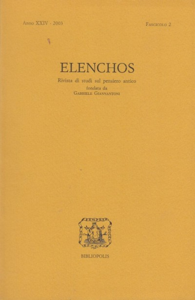 Elenchos anno xxiv 2003 - Aa.vv.
