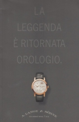 La leggenda ? ritornata orologio. A. Lange & S?hne