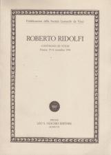 Roberto Ridolfi. Atti del Convegno di studi (Firenze, 15-16 novembre 1996)
