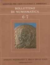 Bollettino Numismatico 6-7 Anno 1986 Gennaio-Dicembre