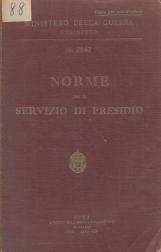 Norme per il servizio di presidio
