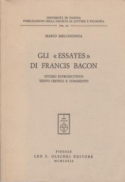Gli Essayes di Francis Bacon