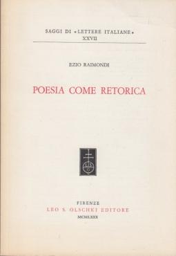 Poesia come retorica
