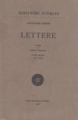 Lettere. A cura di Pietro Puliatti, Volume Secondo 1620-1634