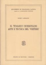 Il Timaeus Ciceroniano Arte e Tecnica del Vertere