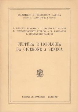 Cultura e ideologia da cicerone a seneca