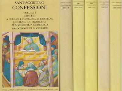 Confessioni tutti e 5 i volumi, volume i libri i-iii - volume ii libri iv-vi - volume iii libri vii-ix - volume iv libri x-xi - volume v libri xii-xiii - Sant'agostino