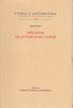 Melanges de litterature latine