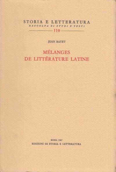 Melanges de litterature latine - Yet Jean