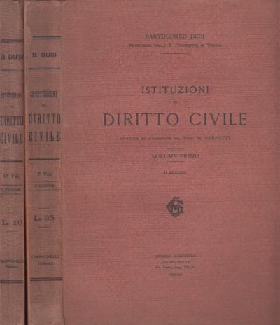 Istituzioni di diritto civile - Dusi Bartolomeo