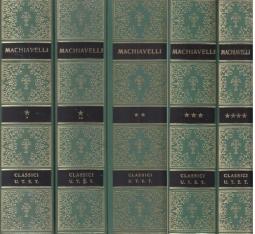 Opere di Niccolò Machiavelli, serie completa di 5 Tomi