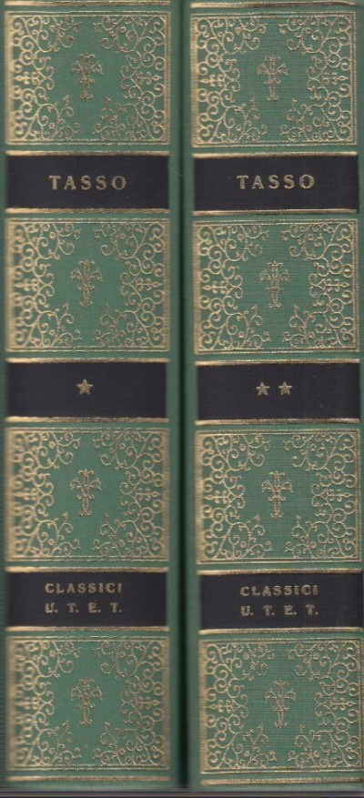 Opere di torquato tasso. volume primo, volume secondo - Tasso Torquato